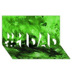 Bright Green Abstract #1 DAD 3D Greeting Card (8x4)