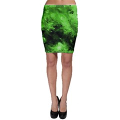 Bright Green Abstract Bodycon Skirts