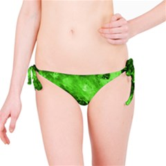 Bright Green Abstract Bikini Bottoms