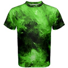 Bright Green Abstract Men s Cotton Tees
