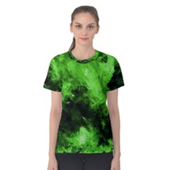 Bright Green Abstract Women s Cotton Tees