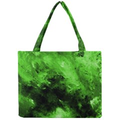 Bright Green Abstract Tiny Tote Bags