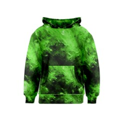 Bright Green Abstract Kid s Pullover Hoodies