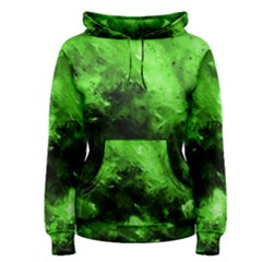 Bright Green Abstract Women s Pullover Hoodies