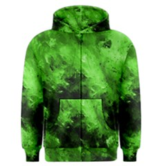 Bright Green Abstract Men s Zipper Hoodies