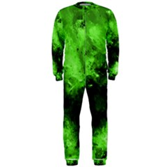 Bright Green Abstract OnePiece Jumpsuit (Men)