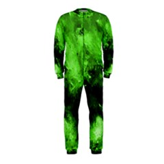 Bright Green Abstract OnePiece Jumpsuit (Kids)