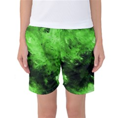 Bright Green Abstract Women s Basketball Shorts