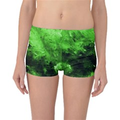 Bright Green Abstract Boyleg Bikini Bottoms