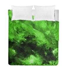 Bright Green Abstract Duvet Cover (twin Size)