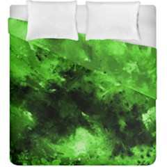 Bright Green Abstract Duvet Cover (king Size)