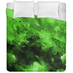 Bright Green Abstract Duvet Cover (double Size)