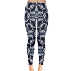 Futuristic Geometric Print Leggings