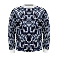 Futuristic Geometric Print Men s Sweatshirts