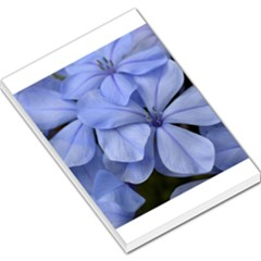 Bright Blue Flowers Large Memo Pads