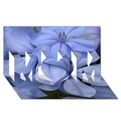 Bright Blue Flowers Mom 3d Greeting Card (8x4)