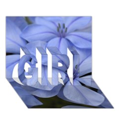 Bright Blue Flowers GIRL 3D Greeting Card (7x5)