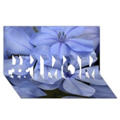 Bright Blue Flowers #1 MOM 3D Greeting Cards (8x4)