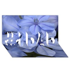 Bright Blue Flowers #1 Dad 3d Greeting Card (8x4)