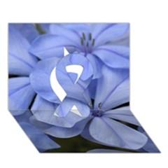Bright Blue Flowers Ribbon 3D Greeting Card (7x5)