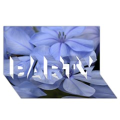 Bright Blue Flowers PARTY 3D Greeting Card (8x4)