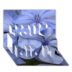 Bright Blue Flowers You Did It 3d Greeting Card (7x5)