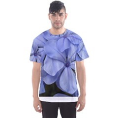 Bright Blue Flowers Men s Sport Mesh Tees