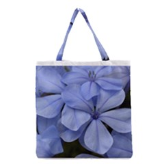 Bright Blue Flowers Grocery Tote Bags