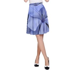 Bright Blue Flowers A-Line Skirts