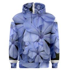 Bright Blue Flowers Men s Pullover Hoodies
