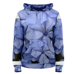 Bright Blue Flowers Women s Pullover Hoodies