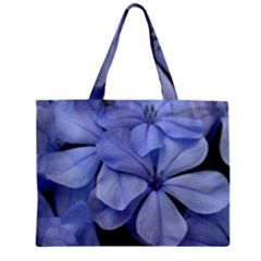Bright Blue Flowers Zipper Tiny Tote Bags