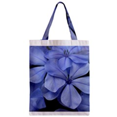 Bright Blue Flowers Zipper Classic Tote Bags