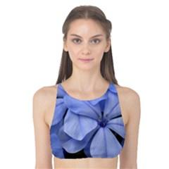Bright Blue Flowers Tank Bikini Top