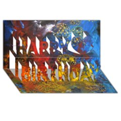 Space Pollen Happy Birthday 3D Greeting Card (8x4)