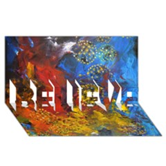 Space Pollen BELIEVE 3D Greeting Card (8x4)