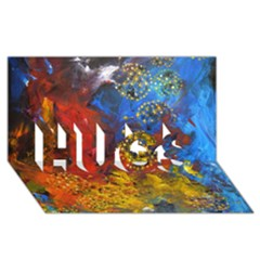 Space Pollen Hugs 3d Greeting Card (8x4)