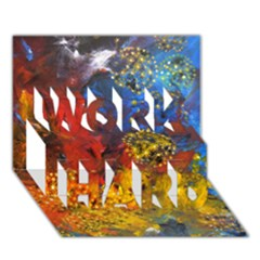 Space Pollen Work Hard 3d Greeting Card (7x5)