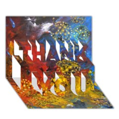 Space Pollen Thank You 3d Greeting Card (7x5)