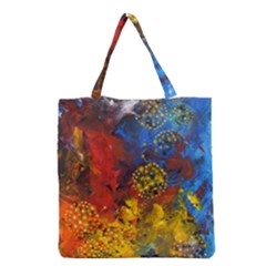 Space Pollen Grocery Tote Bags