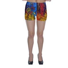Space Pollen Skinny Shorts