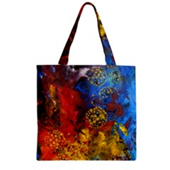 Space Pollen Zipper Grocery Tote Bags