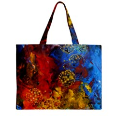 Space Pollen Zipper Tiny Tote Bags