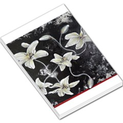 Black And White Lilies Large Memo Pads