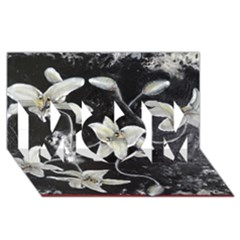 Black and White Lilies MOM 3D Greeting Card (8x4)