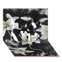 Black And White Lilies Love 3d Greeting Card (7x5)