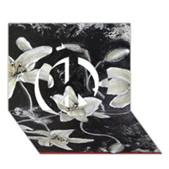 Black And White Lilies Peace Sign 3d Greeting Card (7x5)