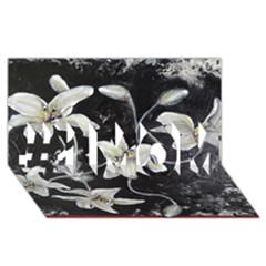 Black And White Lilies #1 Mom 3d Greeting Cards (8x4)