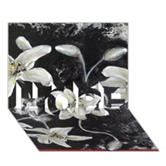 Black and White Lilies HOPE 3D Greeting Card (7x5)