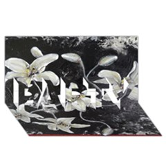 Black and White Lilies PARTY 3D Greeting Card (8x4)